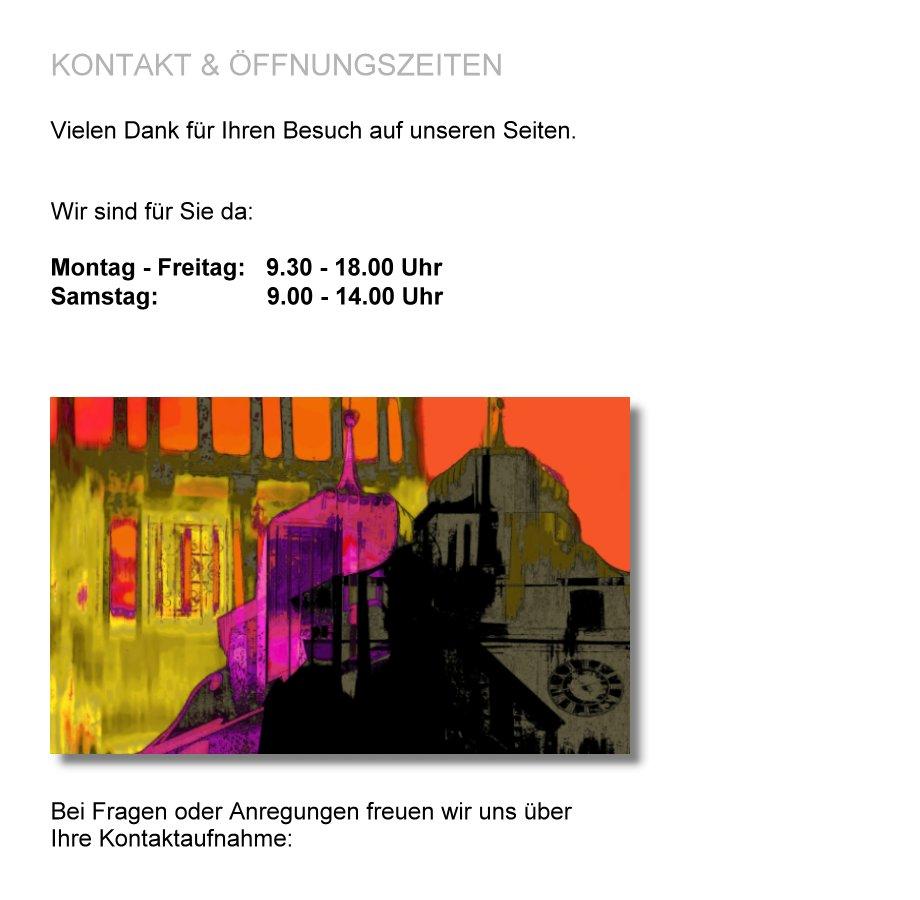 Kontakt & Öffnungszeiten - GEBERT - BILD und RAHMEN